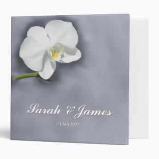White Orchid Flower Photo Wedding Binder