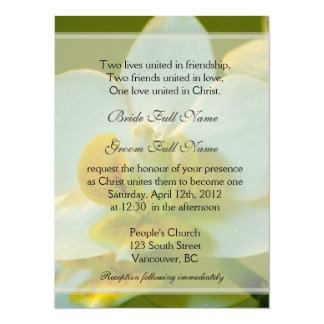 White orchid flowers in green Christian wedding 5.5x7.5 Paper Invitation Card