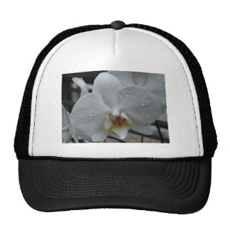 White Orchid Mesh Hat