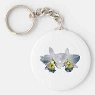 White Orchid Hawaiian Wedding Song Basic Round Button Keychain
