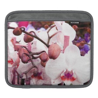 white orchid i-pad sleeve ipad sleeves