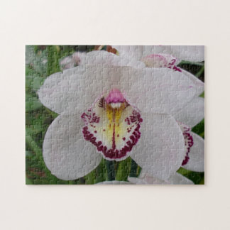 White Orchid II Elegant Floral Jigsaw Puzzle