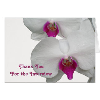 White Orchid Interview Thank You Card