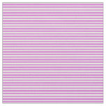[ Thumbnail: White & Orchid Lines Pattern Fabric ]