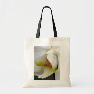 White Orchid Macro Photo Image Budget Tote Bag