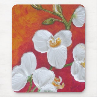 White Orchid Mouse Pad