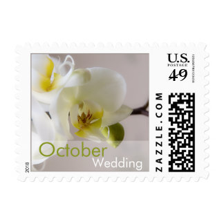 White Orchid • October Wedding Stamp