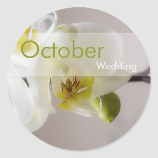 White Orchid • October Wedding Sticker