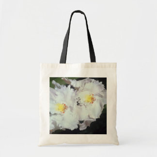 white Orchid odontioda flowers Budget Tote Bag