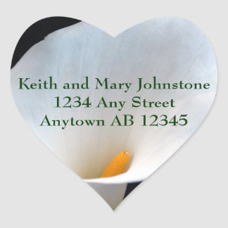 White Orchid Personal Wedding Return Address Label