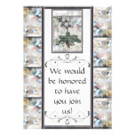 White Orchid Personalized Announcement