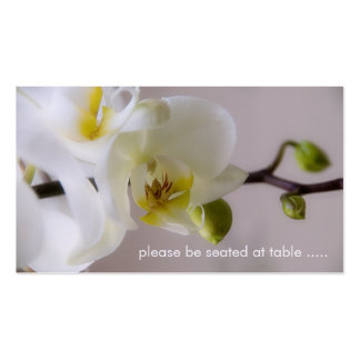 White Orchid • Place Card