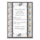 White Orchid RSVP Personalized Invites