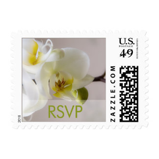 White Orchid RSVP Stamp