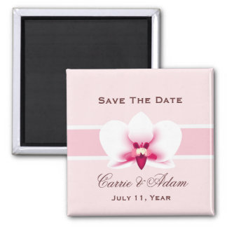 White Orchid Save the Date Magnet