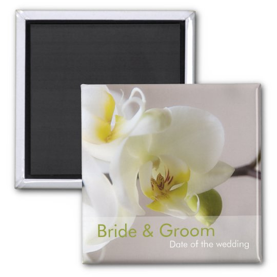 White Orchid • Save the Date Magnet