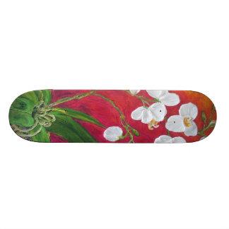 White Orchid Skateboard