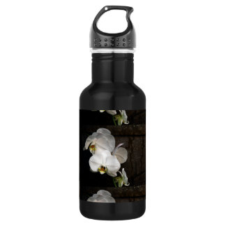 White Orchid Stainless Steel Water Bottle