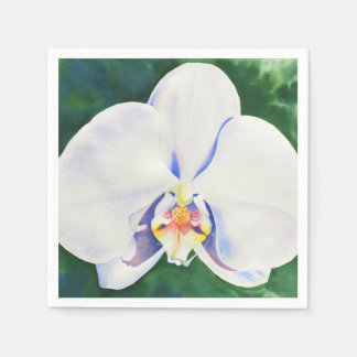 White Orchid Standard Cocktail Napkin