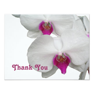 White Orchid Thank You Card