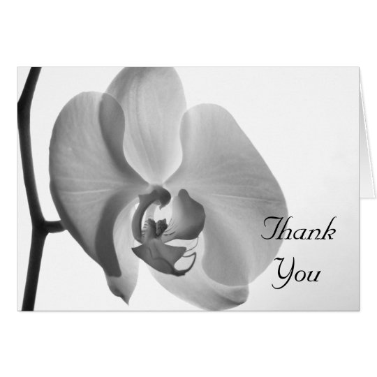 White Orchid Wedding Bridesmaid Thank You Card