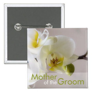 White Orchid • Wedding Button