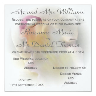 White Orchid Wedding Card