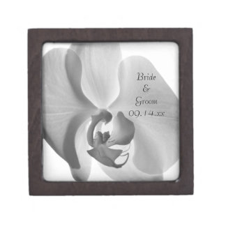 White Orchid Wedding Gift Box Premium Jewelry Boxes