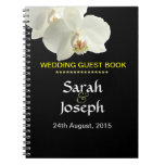 White Orchid Wedding Guest Note Book Notebooks