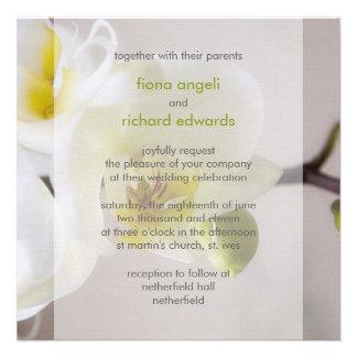White Orchid • Wedding Invitation