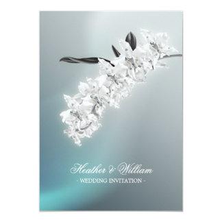 White Orchid - wedding invitation