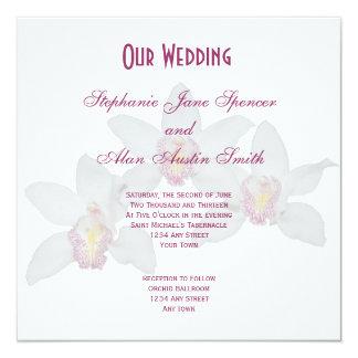 White Orchid Wedding Invitation