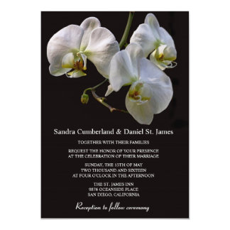 White Orchid Wedding Invitations