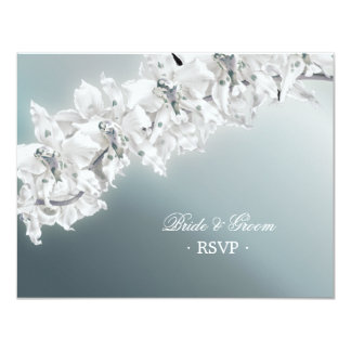 White Orchid - Wedding RSVP card