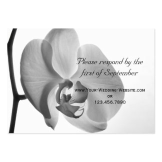 White Orchid Wedding RSVP Response Card