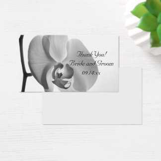 White Orchid Wedding Thank You Favor Tags