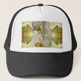White orchid wedding trucker hat