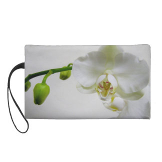 White Orchid Wristlet Clutches