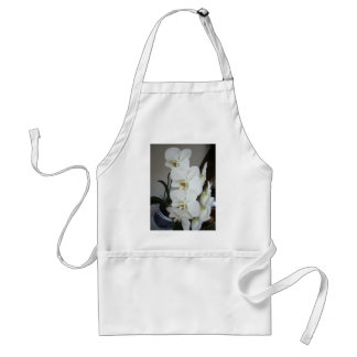 white orchids adult apron