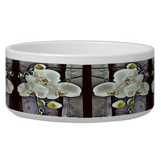 White Orchids and Denim Bowl