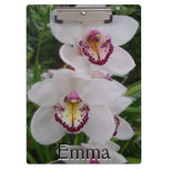 White Orchids Beautiful Tropical Flowers Clipboard