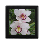 White Orchids Beautiful Tropical Flowers Jewelry Box