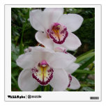 White Orchids Beautiful Tropical Flowers Wall Sticker