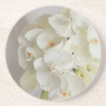 White-Orchids Beverage Coaster