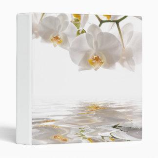 White Orchids Binder