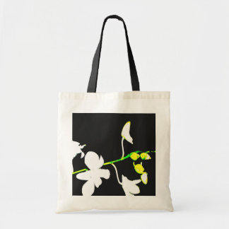 white orchids budget tote bag