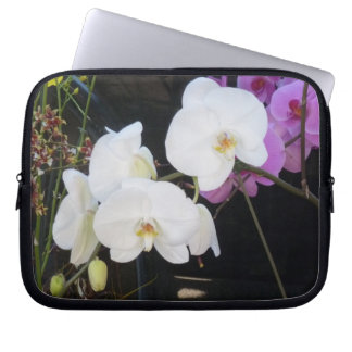 White Orchids Computer Sleeve