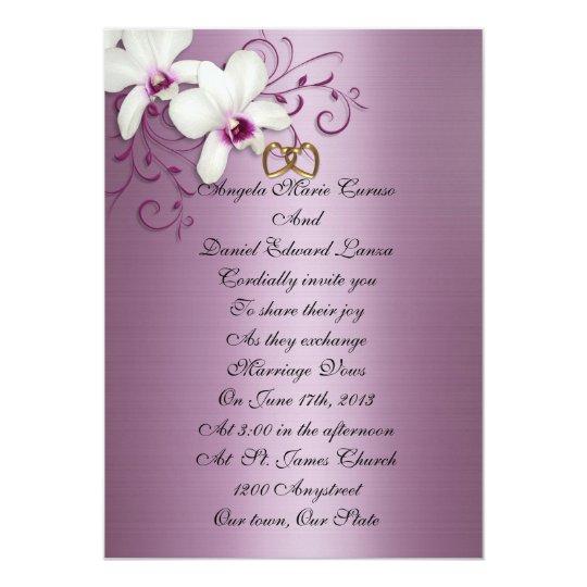 White Orchids Invitation
