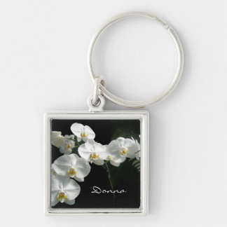 White Orchids Keychain