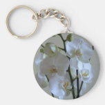 White orchids keychains
